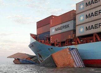 Collision on Amazon river